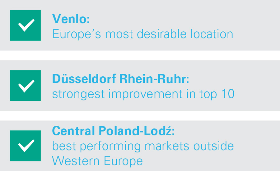 Europe's Most Desireable Logistics Locations - Notable Location Results