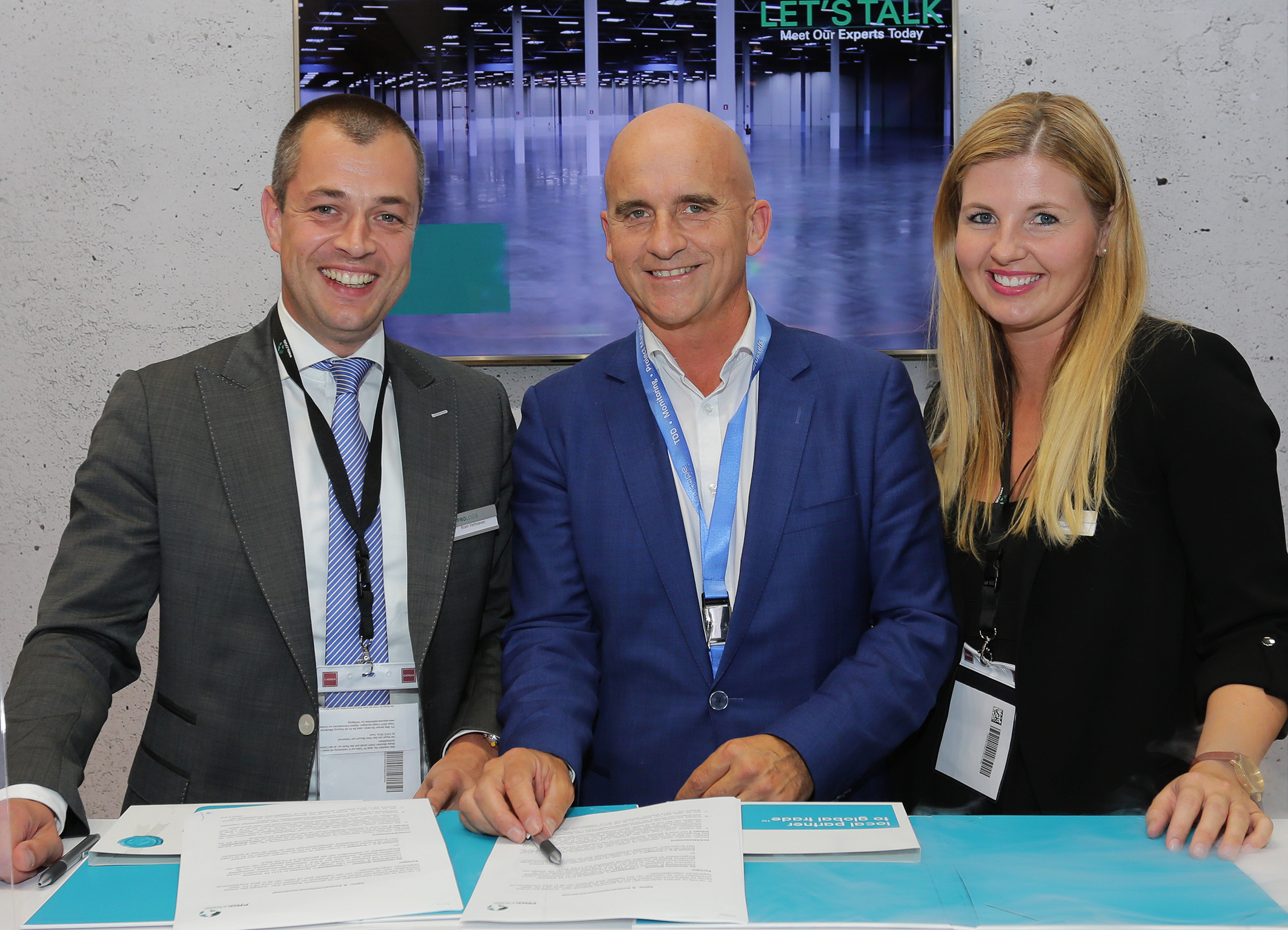 Representatives of Prologis and the municipality of Waalwijk at Expo Real Munich
