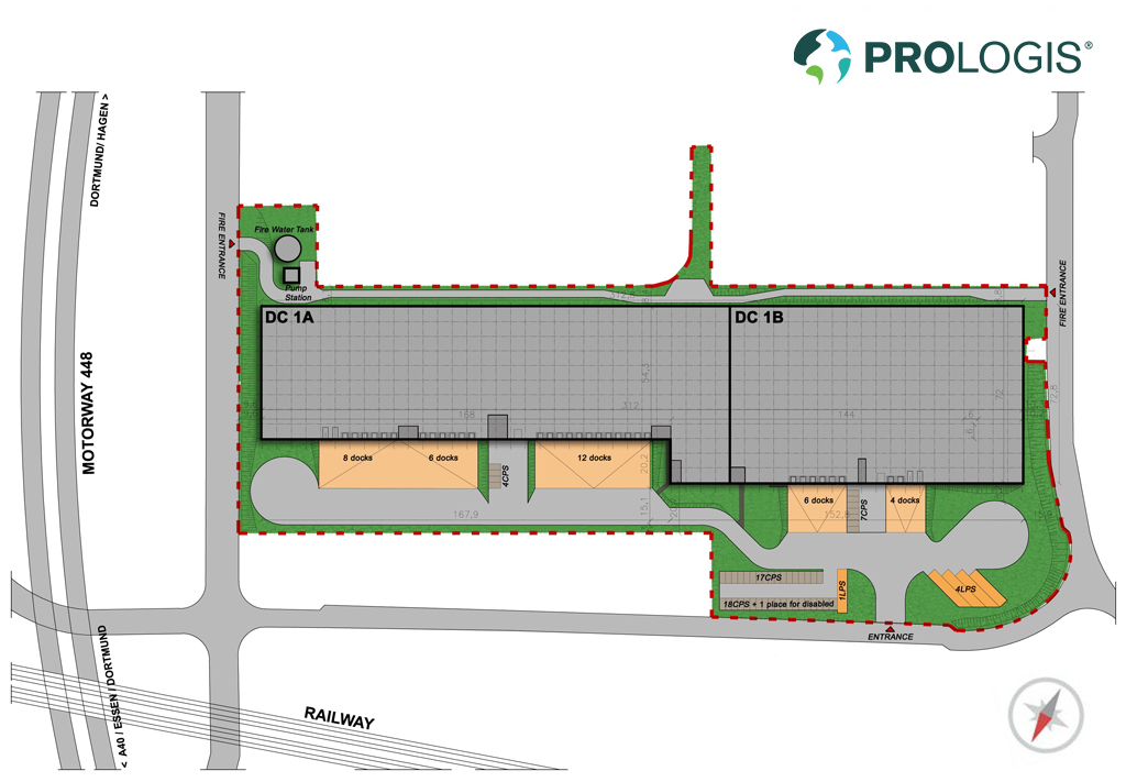 Hall Plan Prologis Park Bochum