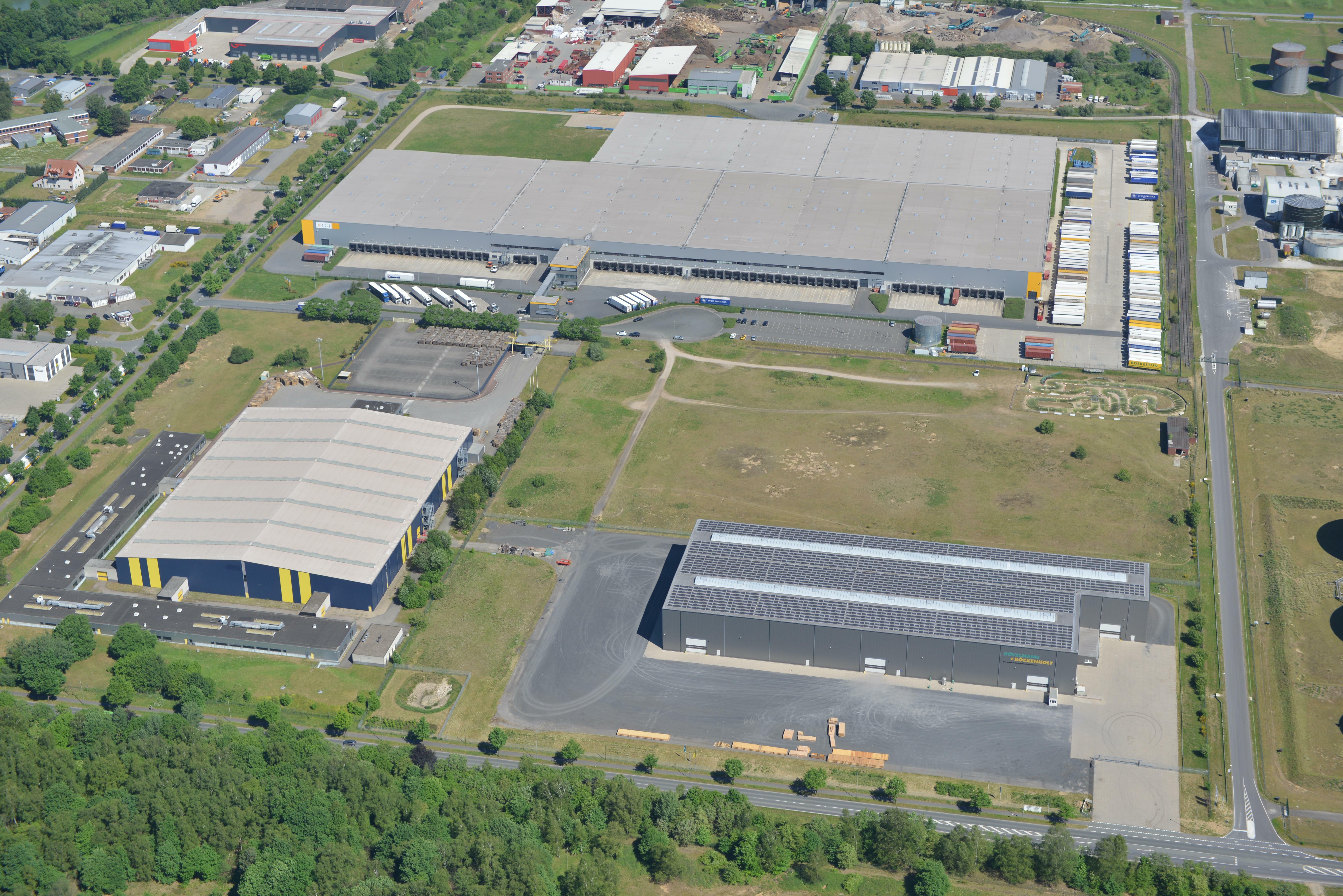 Bird's-eye view Prologis Park Hünxe