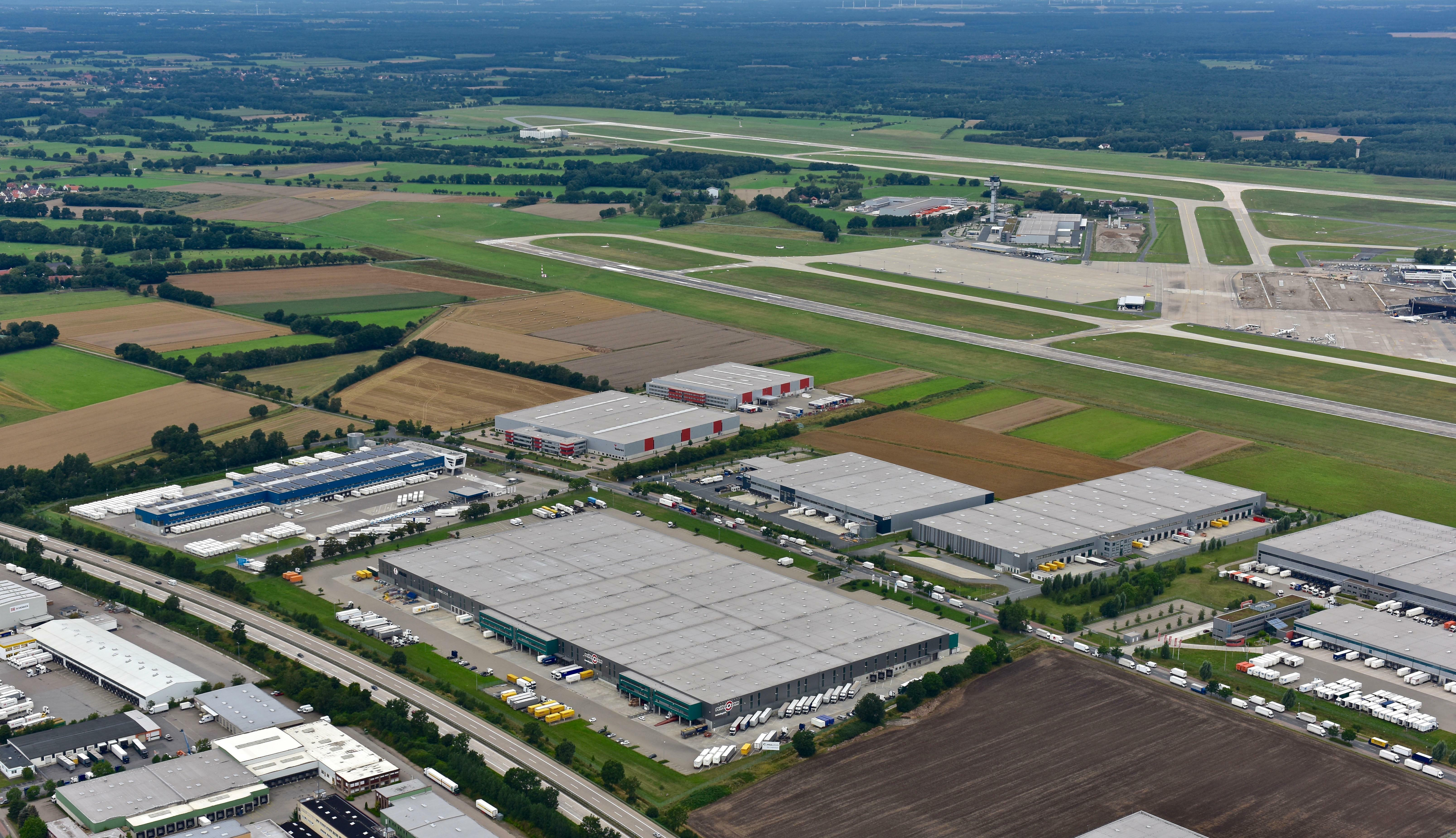 Bird's-Eye View Prologis Park Hanover BTS