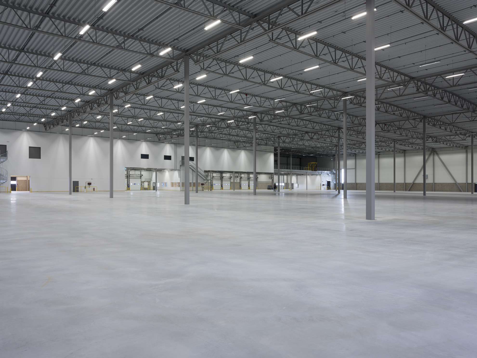 Interior view of the logistics facility at Prologis Park Rosersberg in Sweden