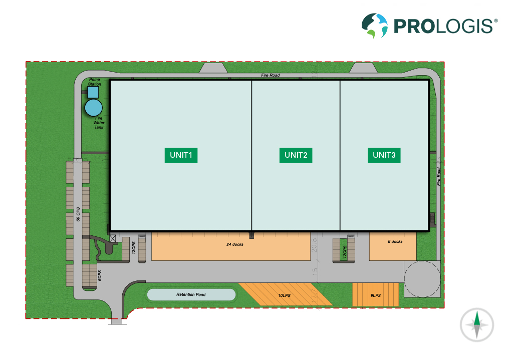 Hall Plan Prologis Park Hannover DC3