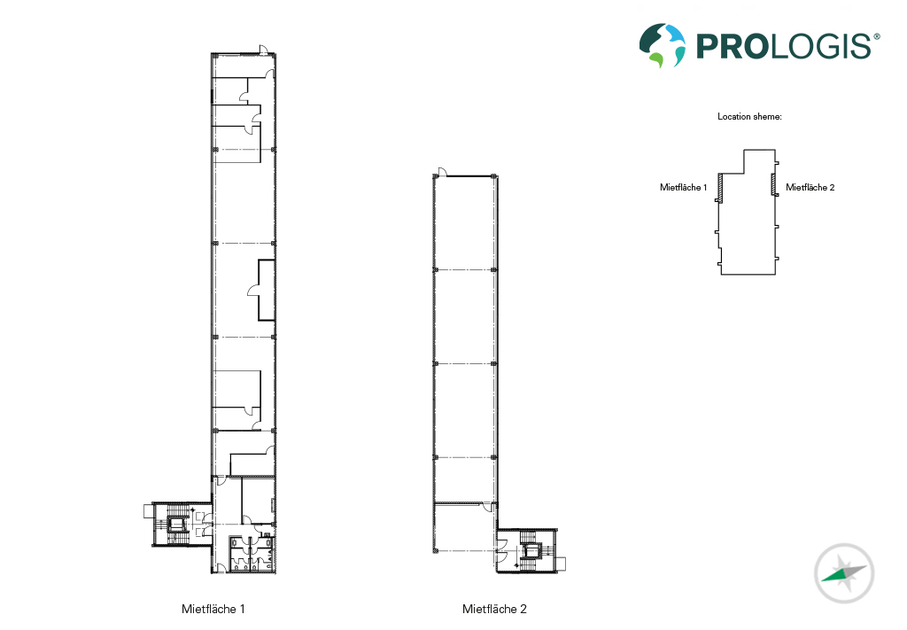Hall plans offices Prologis Park Munich-Garching
