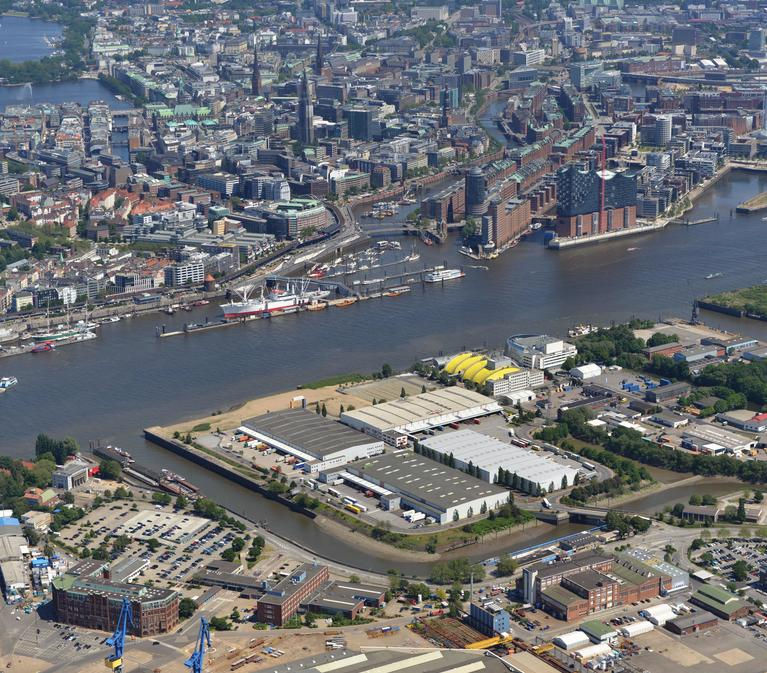 Hamburg-Steinwerder Bird's Eye View