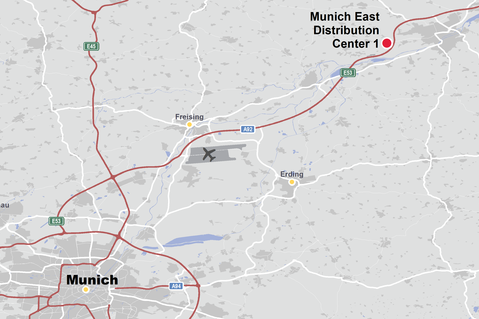 Munich East, Germany, logistics
