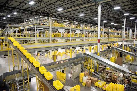 Inside a busy Prologis Warehouse