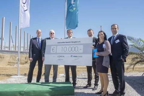Donation Prologis and L'Oréal Cornerstone Ceremony in Muggensturm, Germany