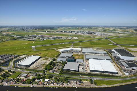 Bird's-Eye View Prologis Fokker Logistik Park